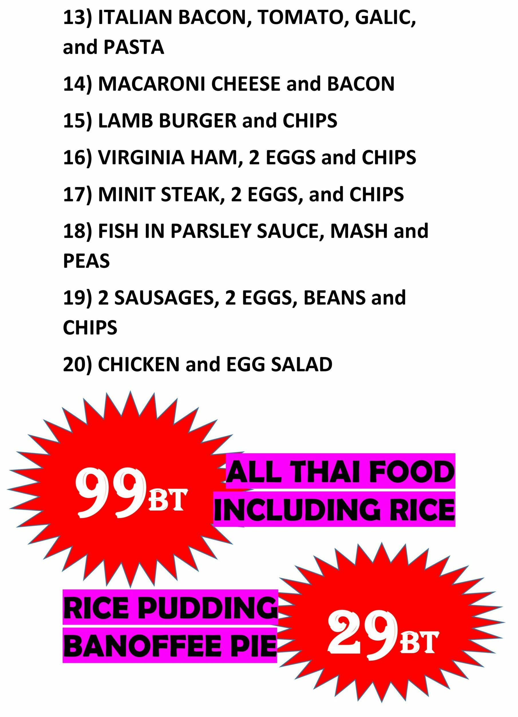 The best value meals in Pattaya are at the Hungry Hippo, Soi Buakhao.